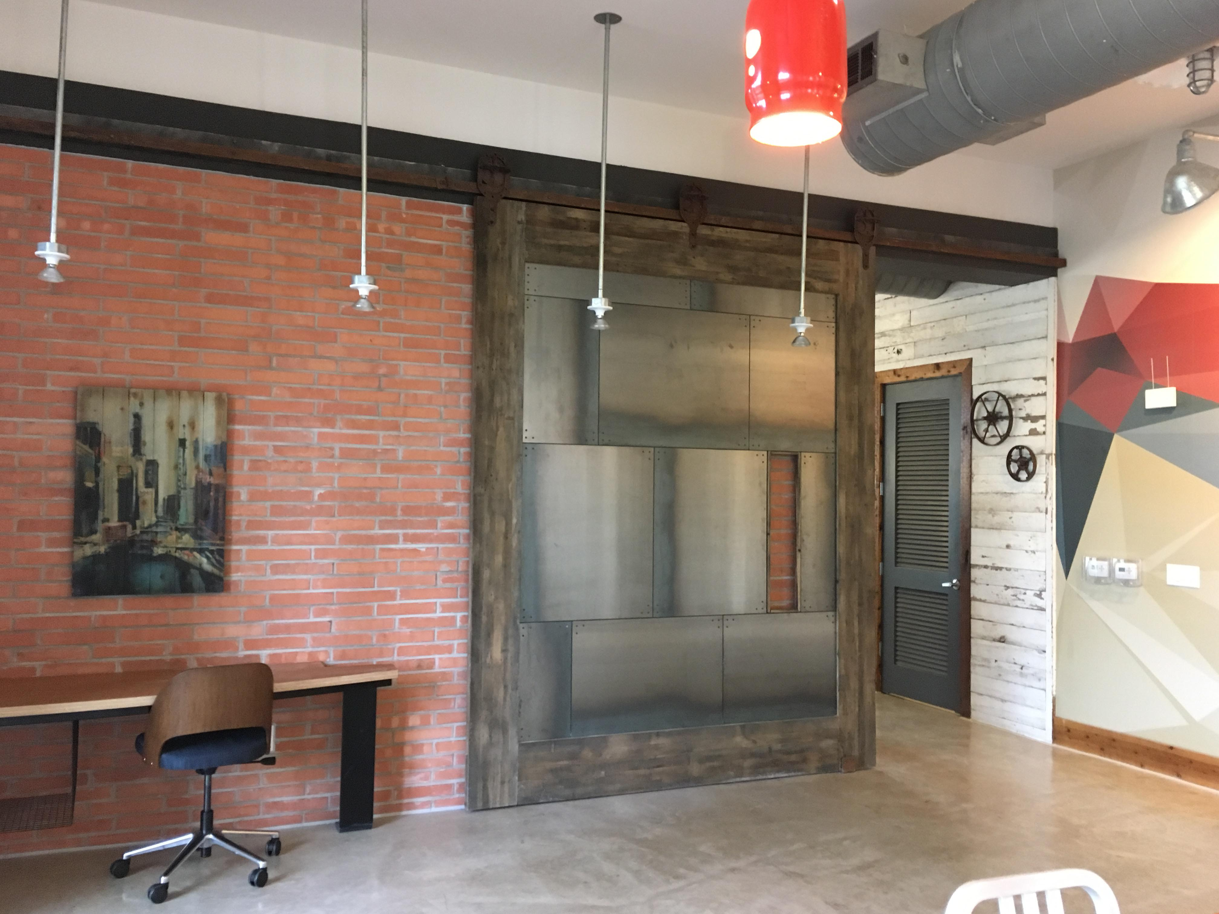 door with track doors for store glass the barn interior decor