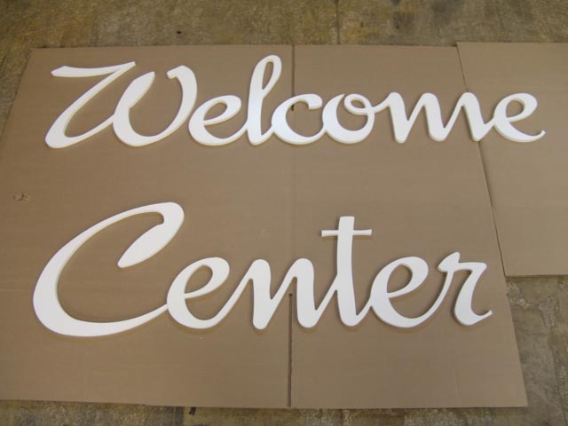 Signage for Acrylic dimensional letters